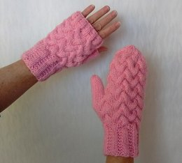 Strawberry Fluff Mitts or Mittens