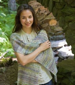 Drop Stitch Wrap in Classic Elite Yarns Bella Lino - Downloadable PDF
