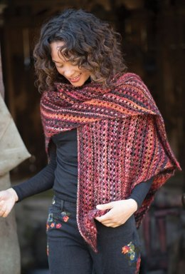 Daiyu Shawl in Berroco Millefiori - 392-2 - Downloadable PDF