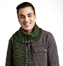 Camouflage Scarf in Caron Simply Soft Camo - Downloadable PDF