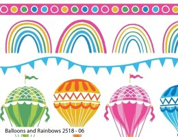 Visage Textiles Hot Air Balloon Cut to Length - Balloons & Rainbow