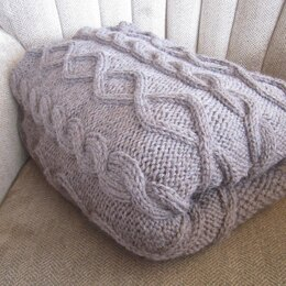 Diamonds and Cables Blanket/Afghan/Throw