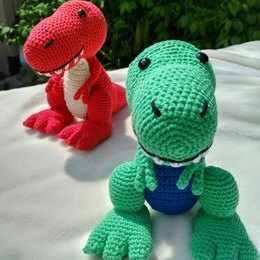 Travis the T-Rex, US Terminology - Dinosaur Amigurumi