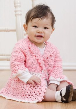 Crochet Victorian Jacket in Red Heart Soft Baby Steps Solids - WR1629