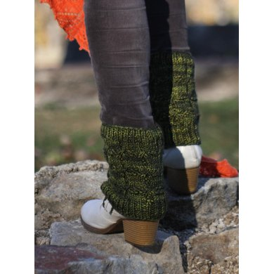 Hemlock Shade Boot Topper Knitting Pattern By Owlcat Designs