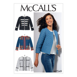 McCall's Misses' Open-Front, Banded Jackets with Yokes M7549 - Sewing Pattern