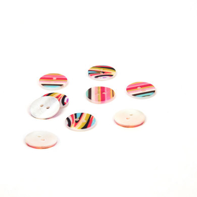 Rico Mother Of Pearl Buttons Multicolour