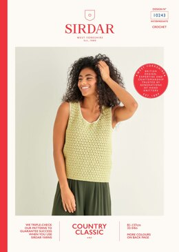 Crochet Vest in Sirdar Country Classic 4ply - 10243 - Downloadable PDF