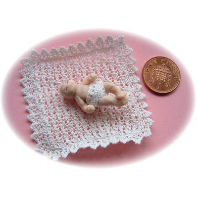 1:24th scale Baby shawl and knickers