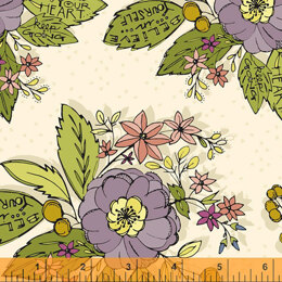 Windham Fabrics Bubbies Buttons & Blooms - Bouquet Oyster
