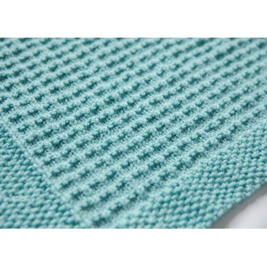 Textured Knit Baby Blanket Knitting pattern by LeeleeKnits