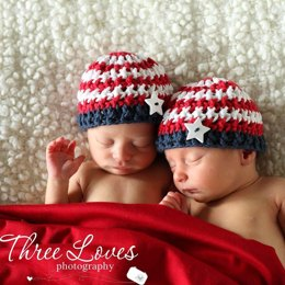 "Patriotic ""Stars & Stripes"" Beanie"