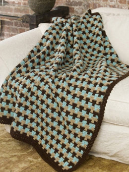 Country Tweed Afghan in Caron One Pound - Downloadable PDF