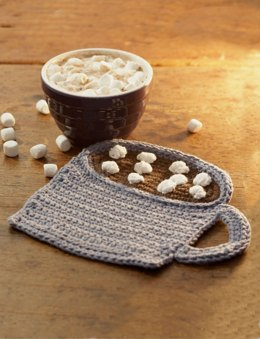 Mug of Cocoa Dishcloth in Lily Sugar 'n Cream Solids