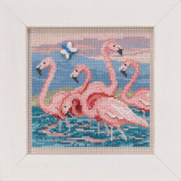 Mill Hill Spring Series 2019 - Flamingos - 5.25in x 5.25in