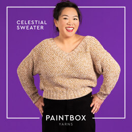 Celestial Sweater - Free Jumper Knitting Pattern For Women in Paintbox Yarns Metallic DK by Paintbox Yarns