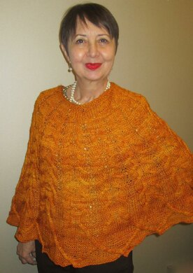 Harvest Moon Cabled Poncho