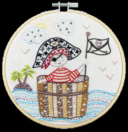 Un Chat Dans L'Aiguille SOS - Pirate in Distress Embroidery Kit