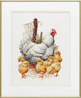 Pako Mother Hen and Chicks Cross Stitch Kit