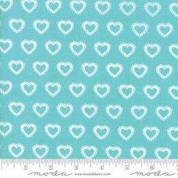 Moda Fabrics First Romance Blue Eye Floral Cut to Length - Paper Hearts