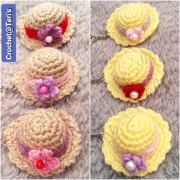 Amigurumi Garden Party Hat Keychain