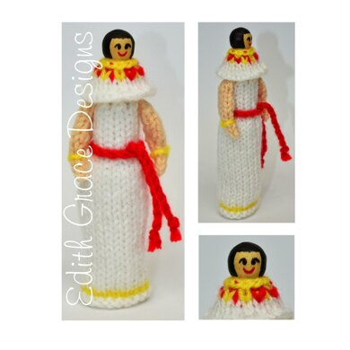 Ancient Egyptian Costume Peg Doll