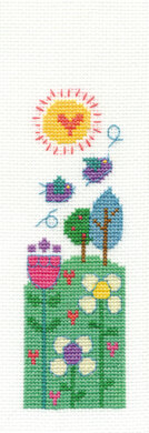 DMC Beautiful Day Bookmark 14 Count Cross Stitch Kit - 23.4cm x 4.8 cm - BK1532