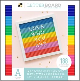 "American Crafts DCWV Letterboard 16""x20"" With 1"" Letters - Multicolor"