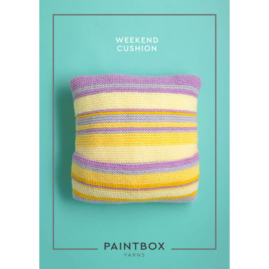 """Weekend Cushion"" : Cushion Knitting Pattern for Home in Paintbox Yarns Bulky 