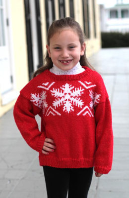 Child's Fairisle Pullover in Plymouth Yarn Holiday Lights - 2298 - Downloadable PDF