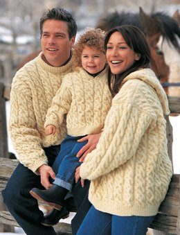 Family Cables in Patons Classic Wool Worsted