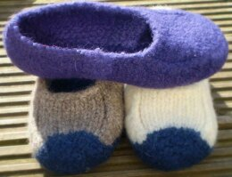 Duffers, 19 Row Felted Slippers