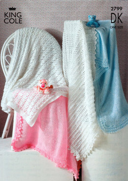 Shawls in King Cole Comfort Baby DK - 2799