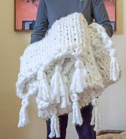 Thick, Cozy, Chunky Knit Blanket