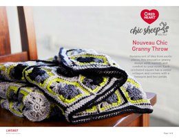 Nouveau Chic Granny Throw in Red Heart Chic Sheep - LW5897 - Downloadable PDF