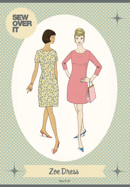 Sew Over It Zoe Dress - Downloadable PDF, Size UK 8-20