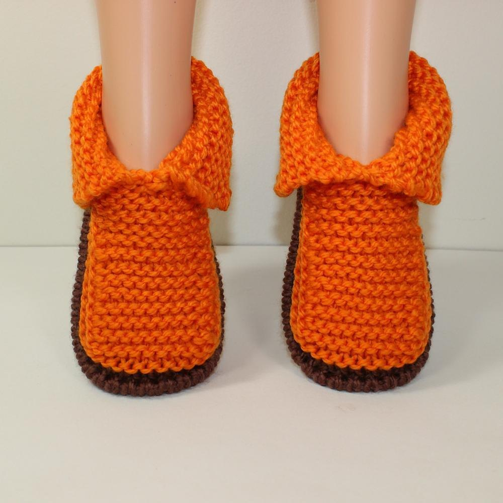 Children\'s Chunky Slippers Knitting pattern by madmonkeyknits ...