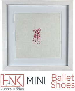 Hugs 'n Kisses Mini Ballet Shoes with Iron On Transfer - HNK187-1 - Leaflet