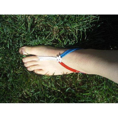 Red, White and Blue Flag Barefoot Sandals