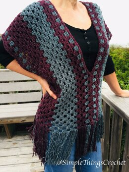 Misty Morning Poncho Top