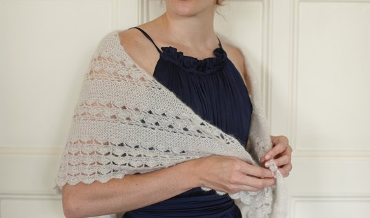 Amelia Shawl by Willow & Lark Yarns