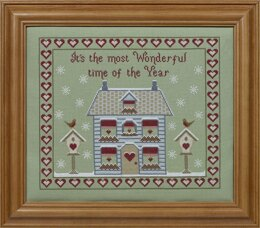 Historical Sampler Company Its the Most Wonderful Time of the Year Cross Stitch Kit