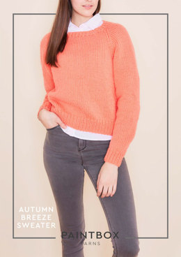 """Autumn Breeze Sweater"" - Sweater Knitting Pattern in Paintbox Yarns Simply Chunky"