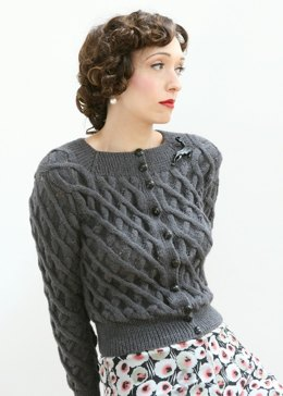 Lady's Jumper Cardigan in Susan Crawford Excelana 4 Ply