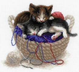 Riolis Kittens in a Basket Cross Stitch Kit - R1724