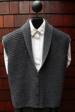 Mari Sweaters MS 196 Classic Shawl Collar Vest