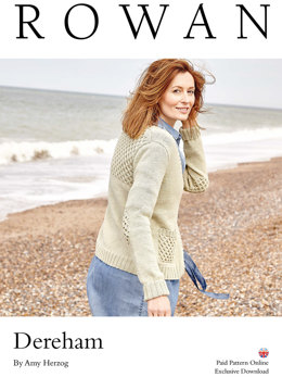 Dereham Cardigan in Rowan Wool Cotton - Downloadable PDF