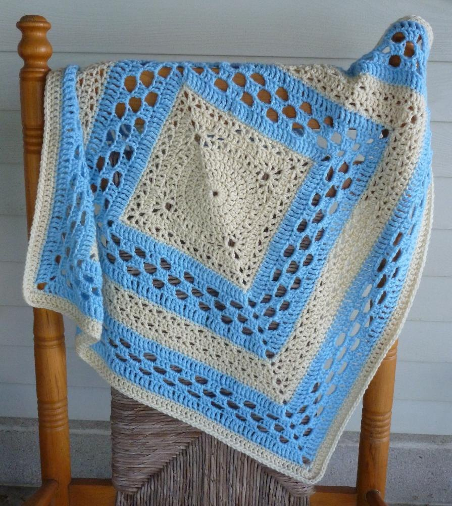 Medallion Crochet Baby Blanket Crochet Pattern By Rlj