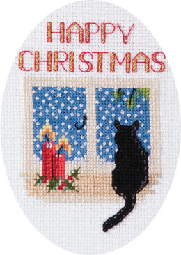 Derwentwater Designs Christmas Cat Card Cross Stitch Kit