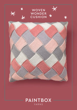 """Woven Wonder Cushion"" - Cushion Knitting Pattern For Home in Paintbox Yarns Baby DK"